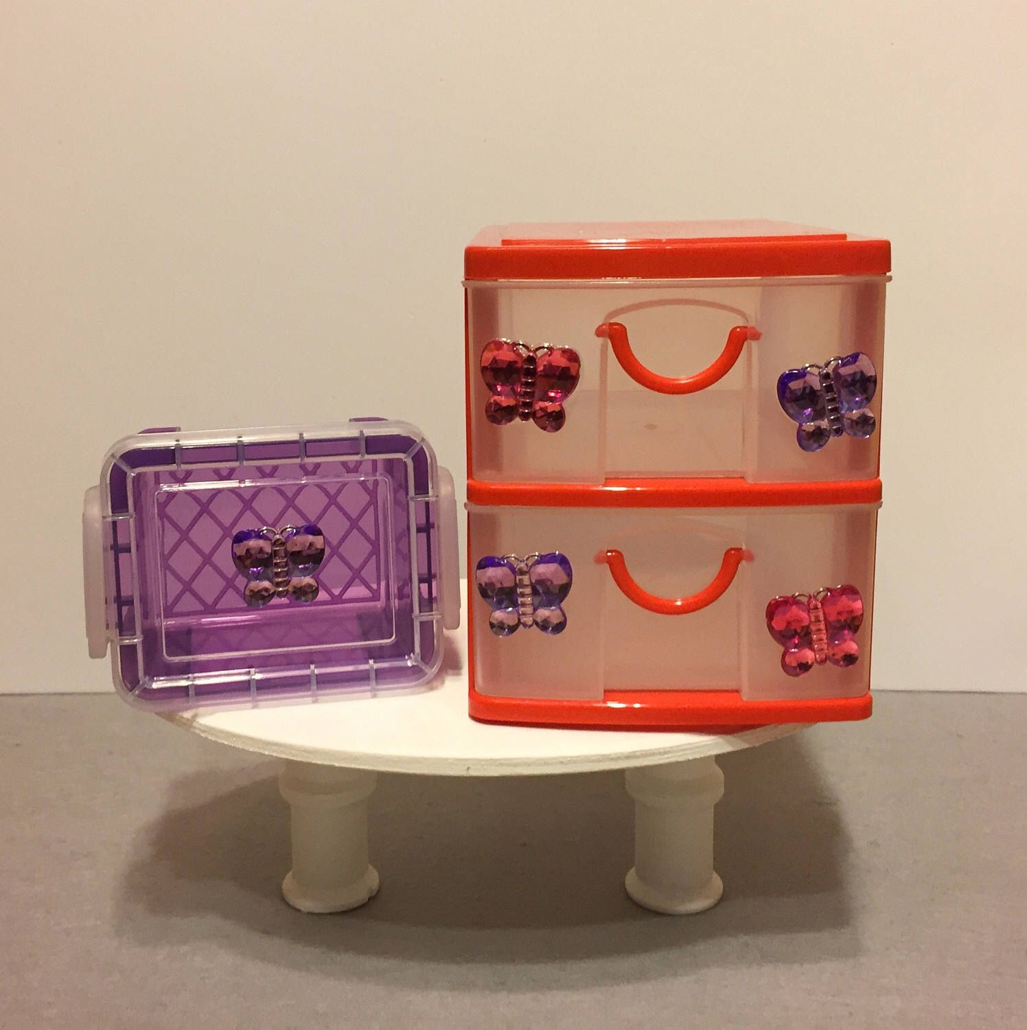 Butterfly 2 drawer storage container w snap lid storage container