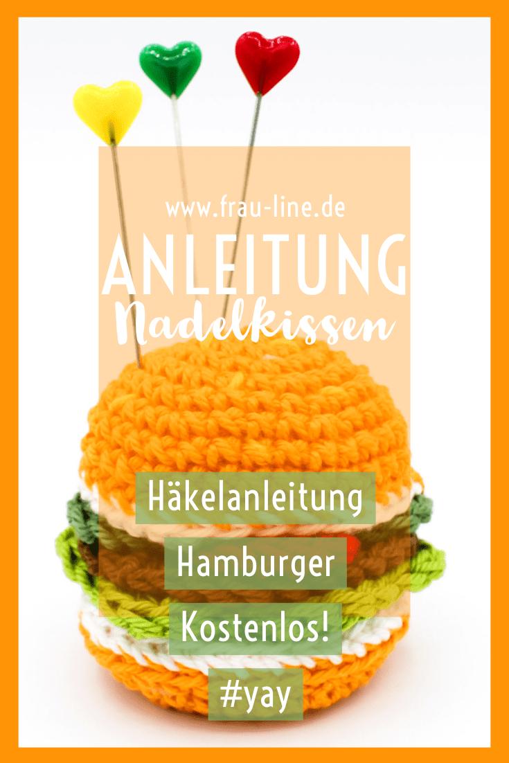 Photo of Kostenlose Häkelanleitung: Nadelkissen Hamburger – Frau Line