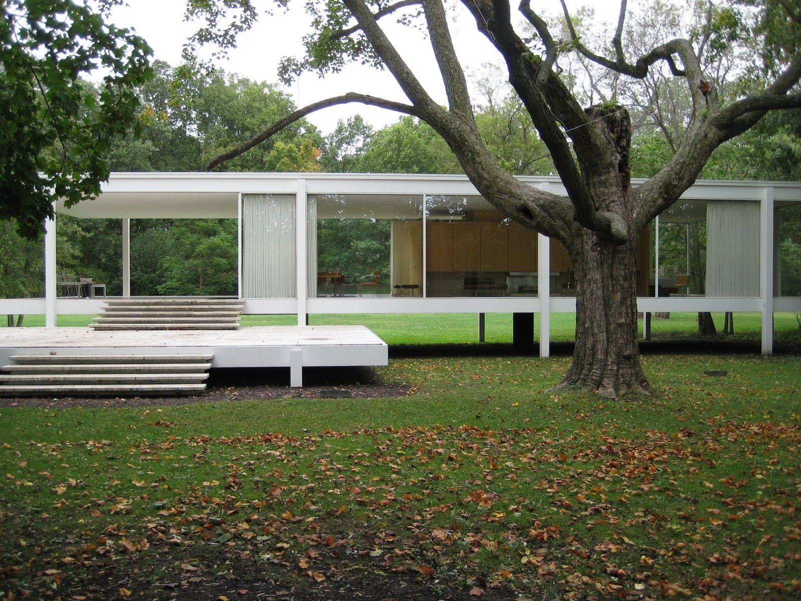 Farnsworth house by mies van der rohe exterior 8 jpg - Farnsworth House