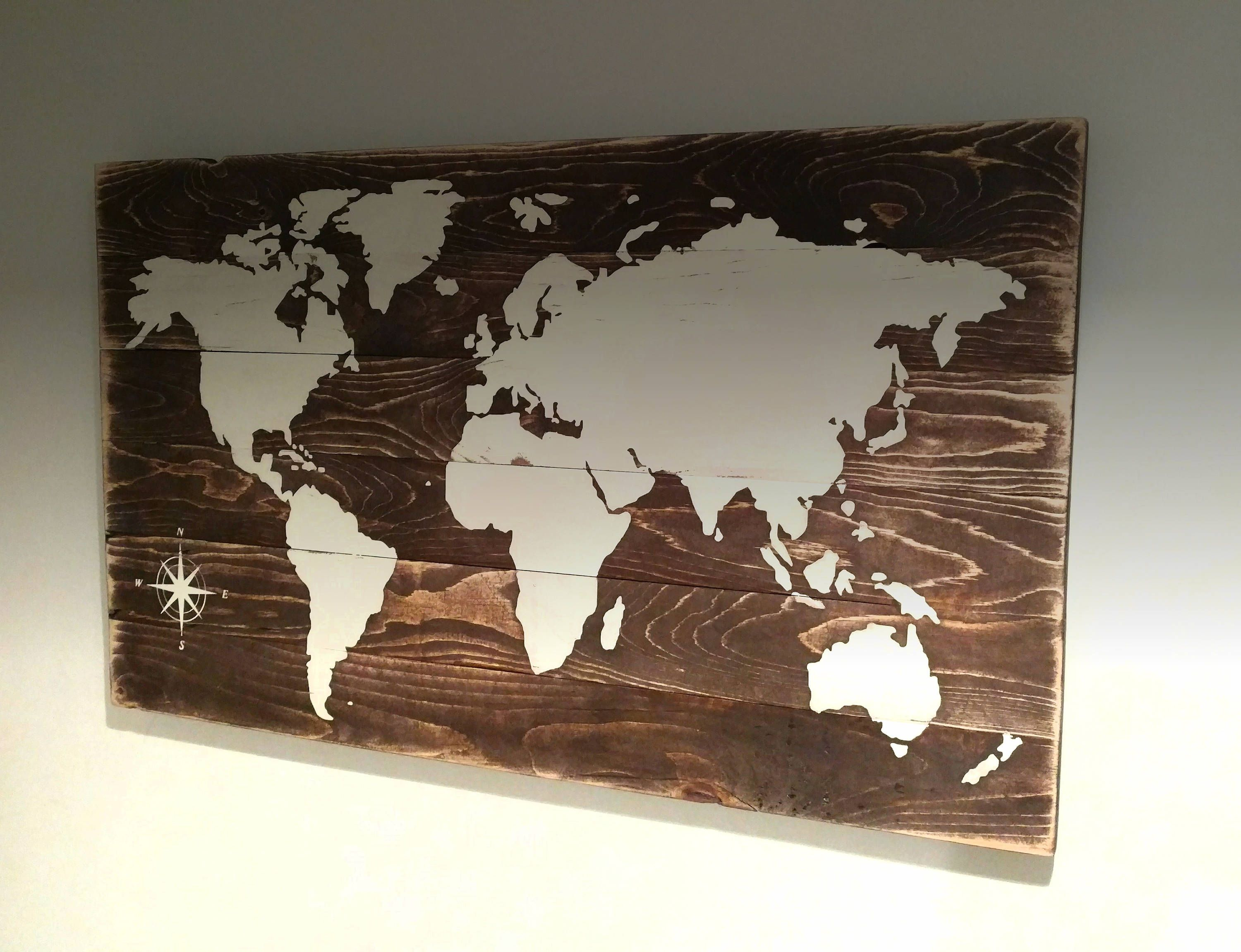 Rustic world map world decor living room decor wall art map rustic world map world decor living room decor wall art map decor gumiabroncs Image collections