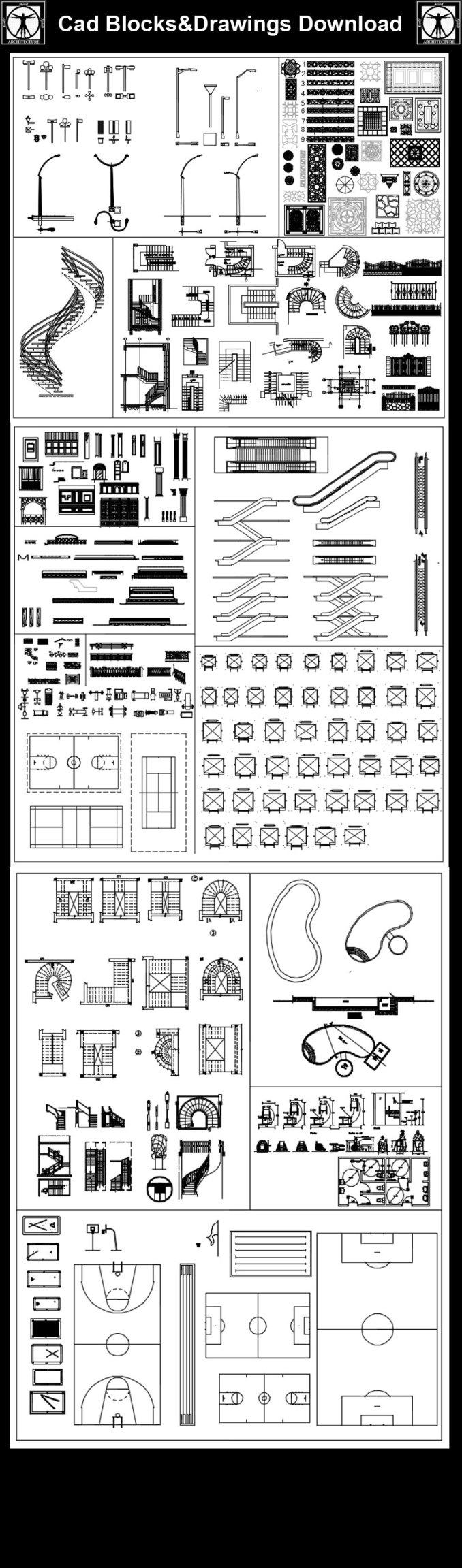 Alle Landschaftsblöcke Free Cad Blocks Zeichnungen Download
