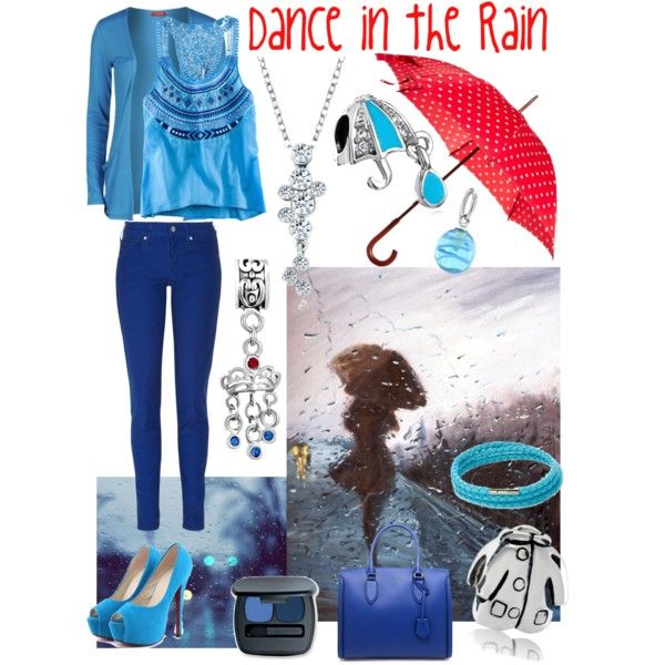 """Dance in the #Rain"" by pugsterjewelry on Polyvore #blue #fashion"