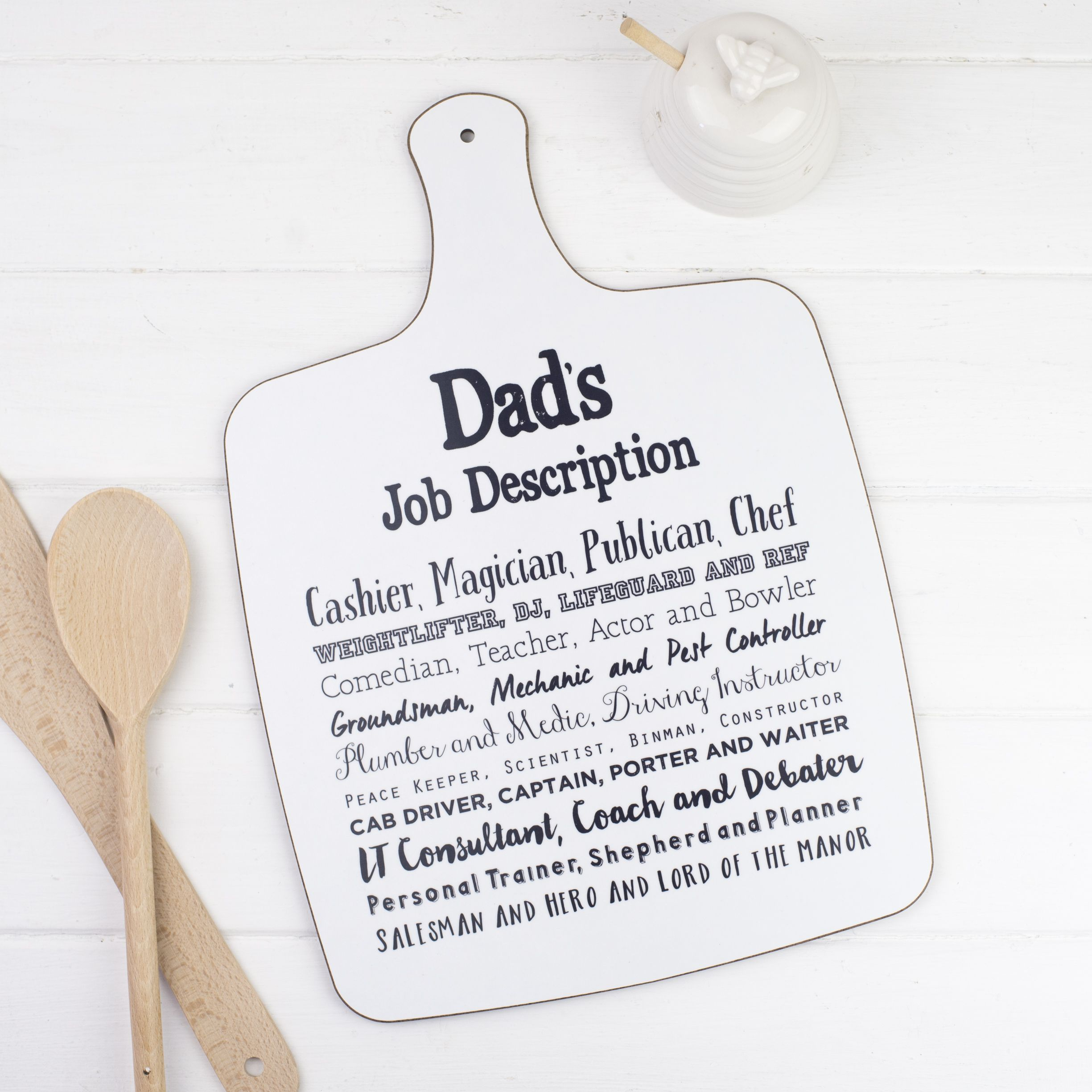 DadS Job Description Chopping Board  Bespoke Verse  Homewares