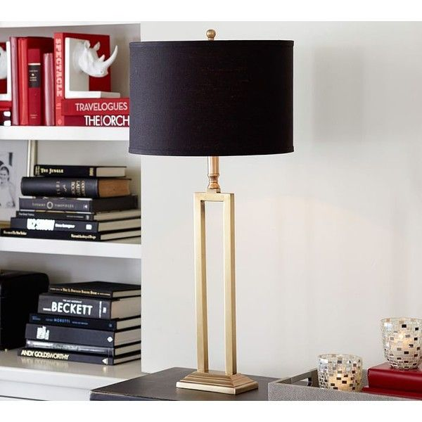 Pottery barn calvin brass lamp base 159 ❤ liked on polyvore featuring home