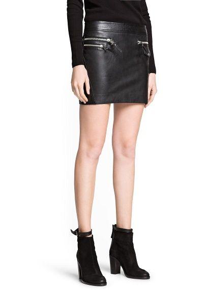 ee82387fa2 Minifalda biker piel - Mujer en 2019