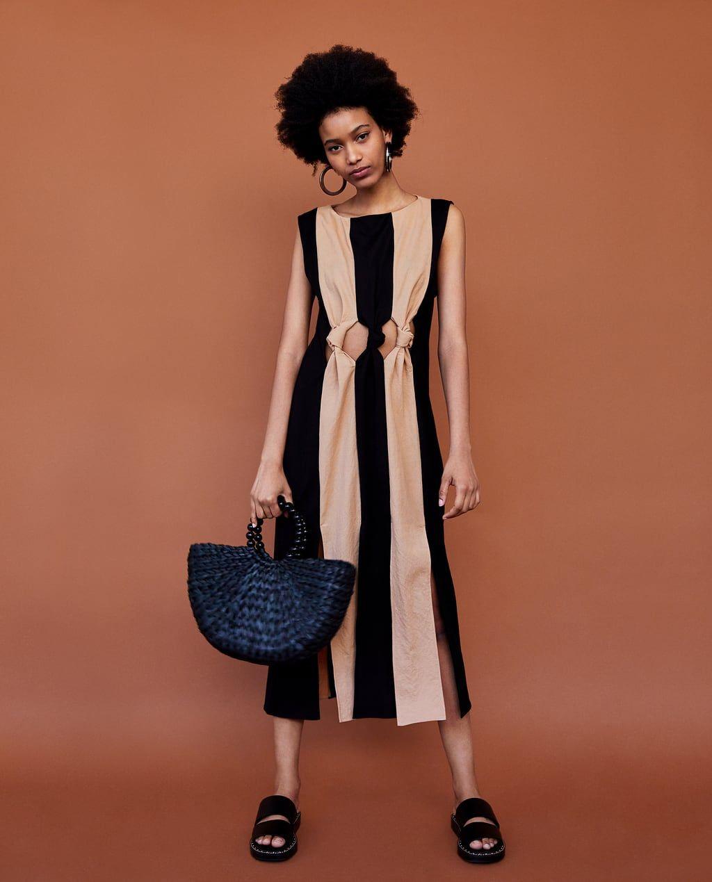 631e1ca2 VESTIDO BICOLOR NUDOS | Sewing list | Zara dresses, Knot dress, Zara ...
