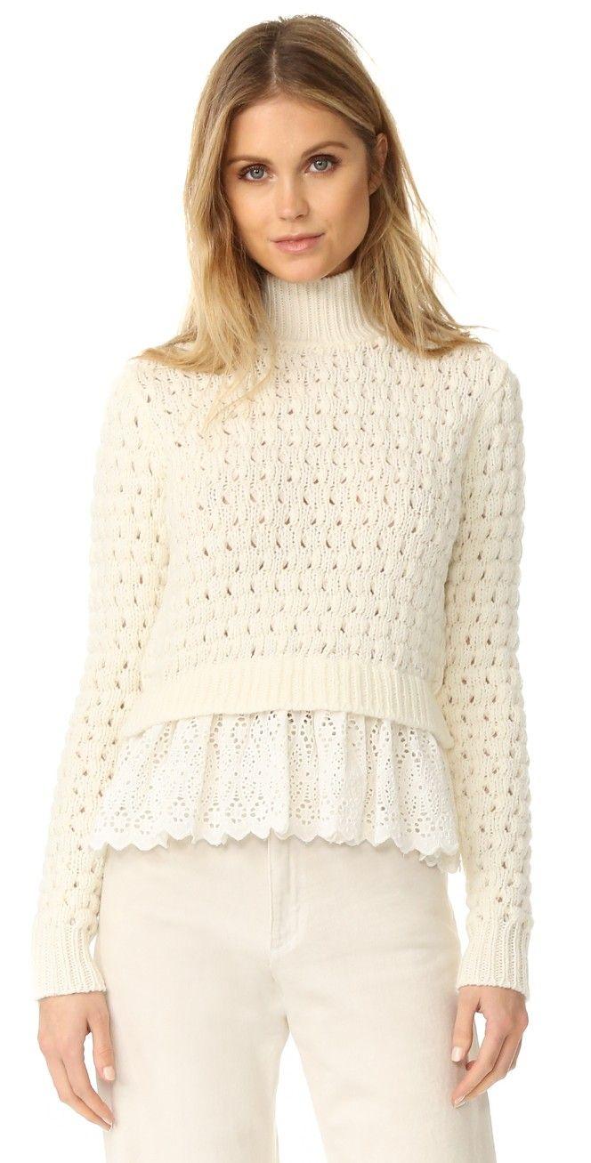 Rebecca Taylor Mock Neck Sweater   SHOPBOP