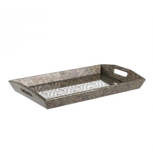 Wooden Trays To Decorate Amazing Wooden Tray In Antique Silver Color 49X33X5_5  Traysplacements Inspiration