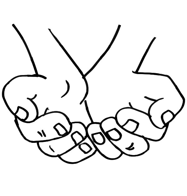 Cupped Hands Coloring Pages Best Place To Color Coloring Pages Hand Coloring Free Coloring Pages