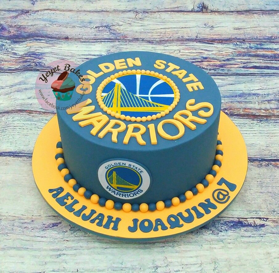 Golden State Warriors Cake For A Stephen Curry Fan With Images