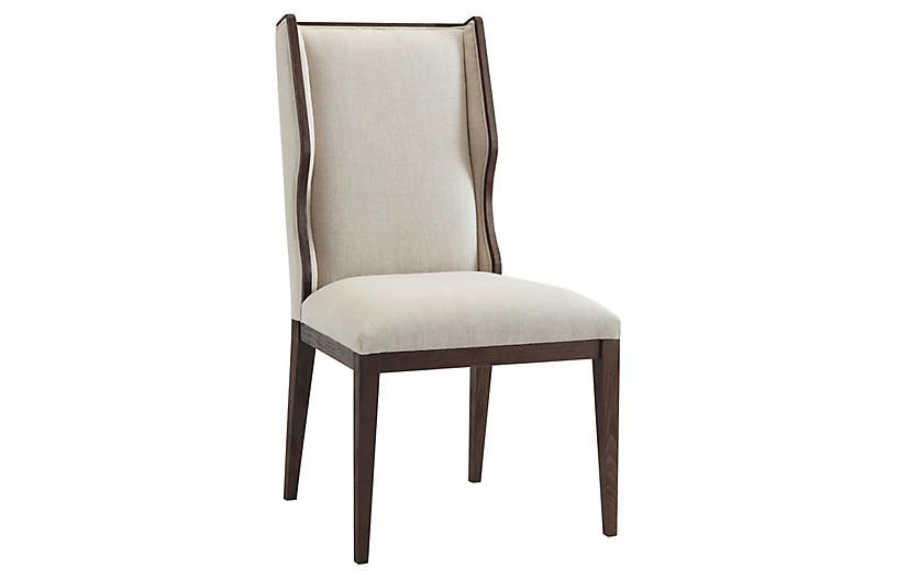 Della Side Chair Cream Side Chairs Cream Dining Room Furniture