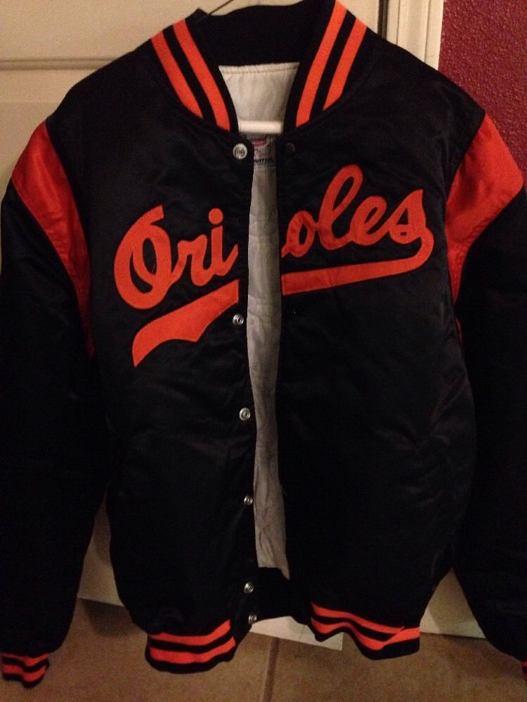 new styles 50029 66d94 vintage 80's starter baltimore orioles mlb jacket youth xl ...
