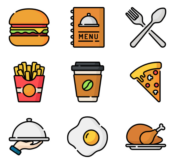 Special Icon Style Lineal Color 157 464 Vector Icons Available In Svg Eps Png Psd Files And Icon Font Restaurant Icon Vector Icon Design Mini Drawings