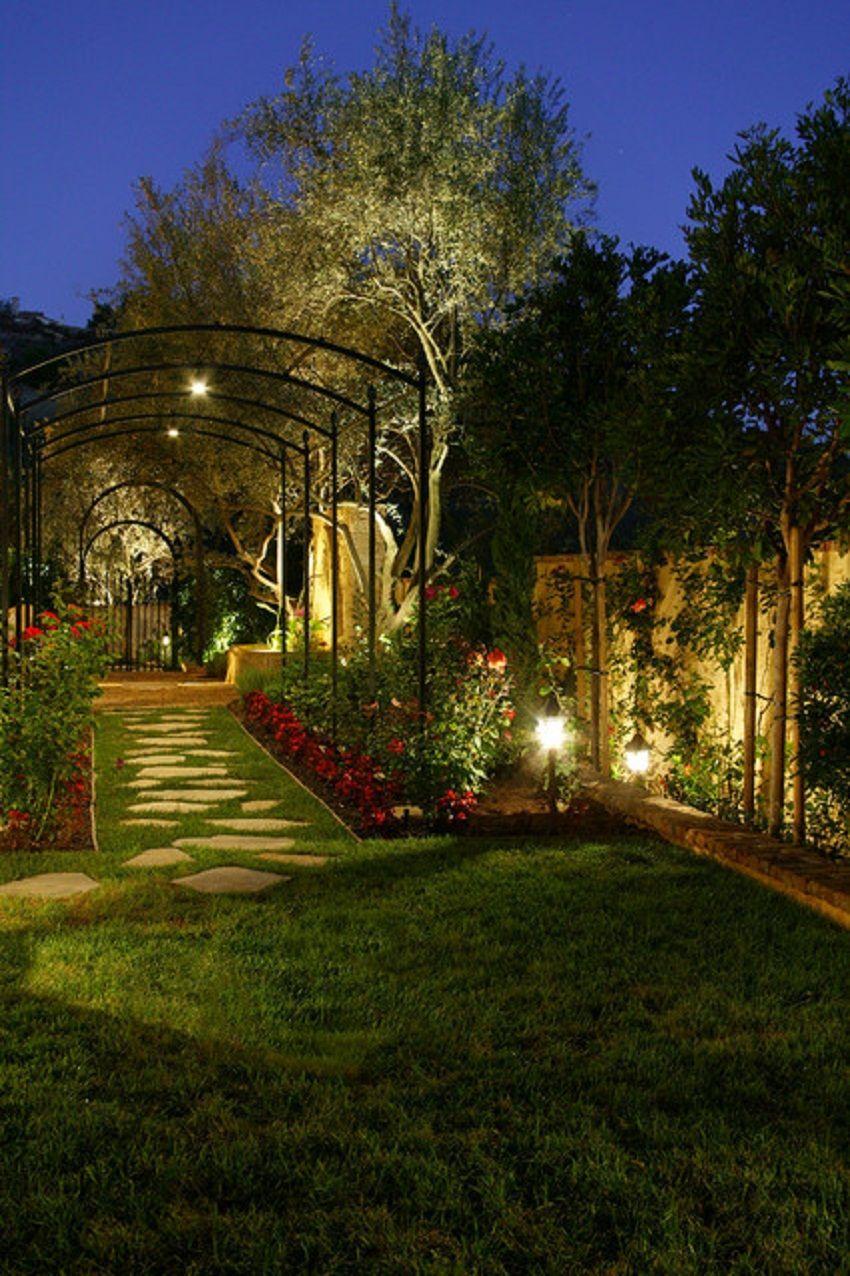 Explore Garden Lighting Ideas On Pinterest See More Ideas About Garden Lig Outdoor Landscape Lighting Landscape Lighting Design Mediterranean Landscaping