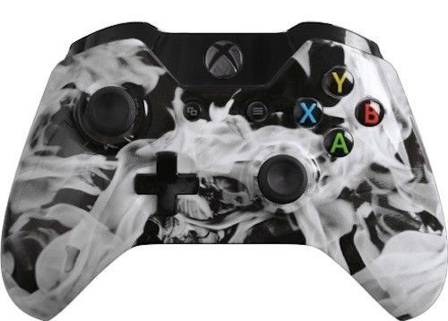 Custom Xbox One Controller with White Fire Shell Brand New