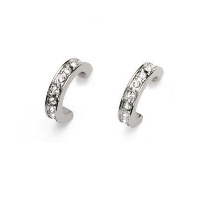 Oliver Weber Crystal Set Half Hoop Earrings H Samuel the
