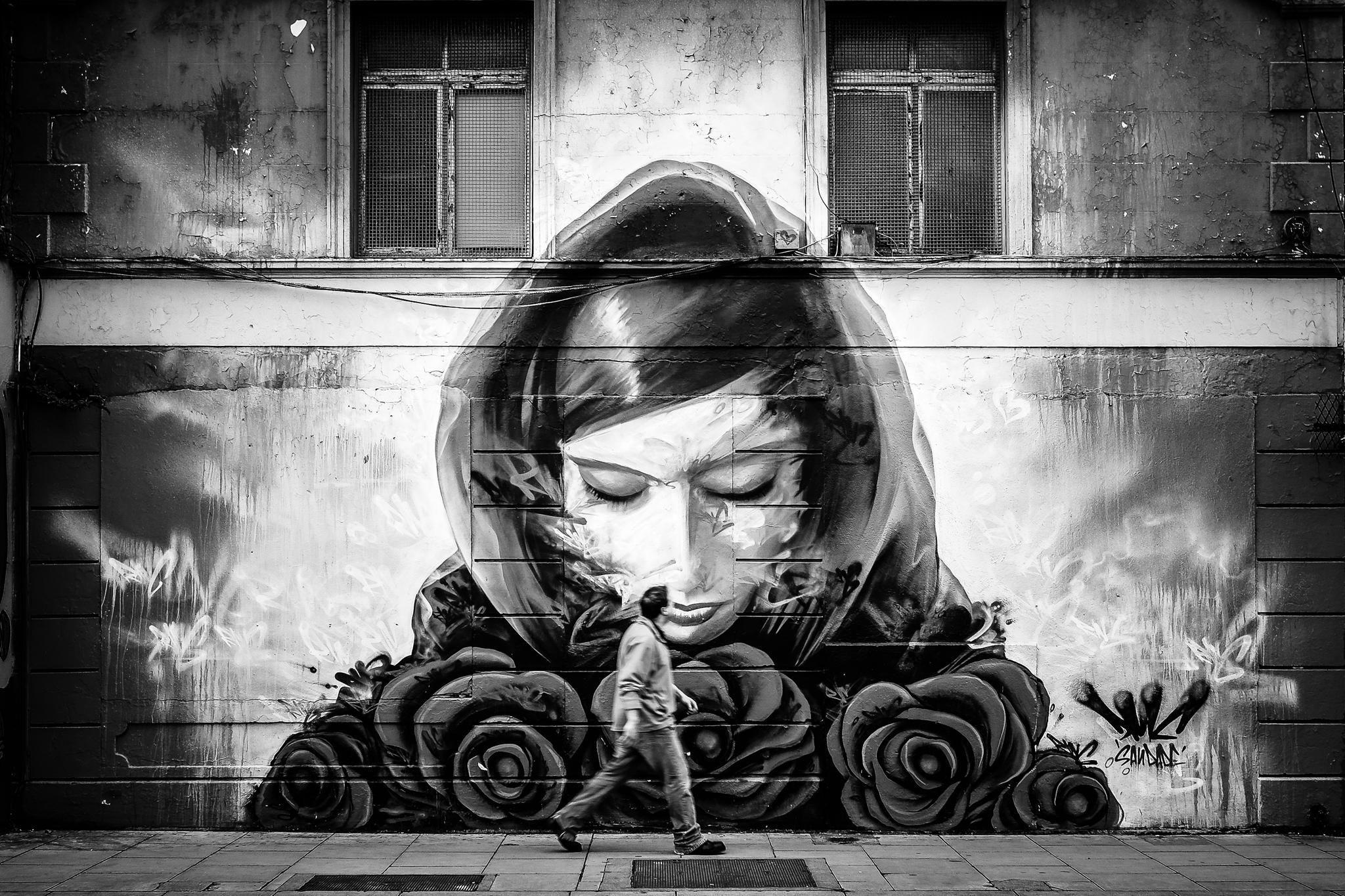Woman on the wall by gabor nagy on px street art pinterest