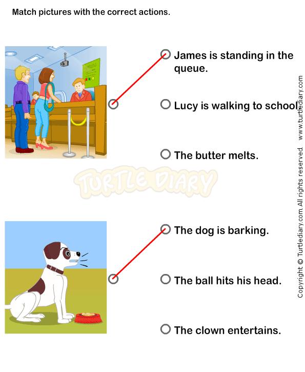 Action Verbs Worksheets 3 - esl-efl Worksheets - kindergarten ...