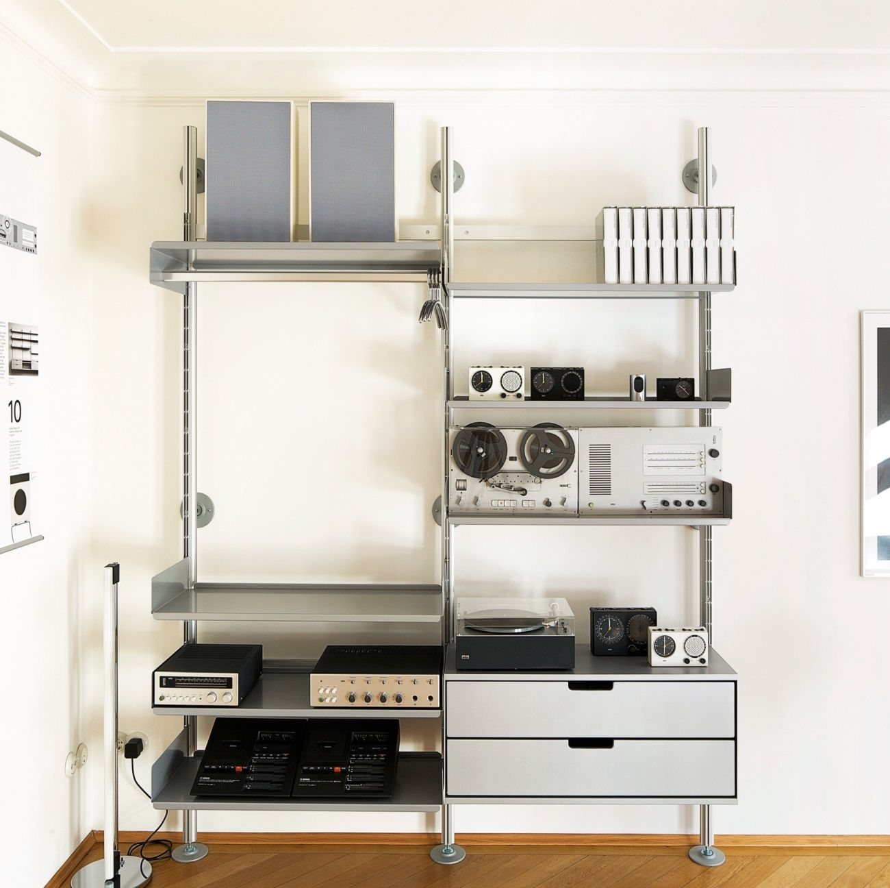 regalsystem 606 by dieter rams for vits hifi. Black Bedroom Furniture Sets. Home Design Ideas