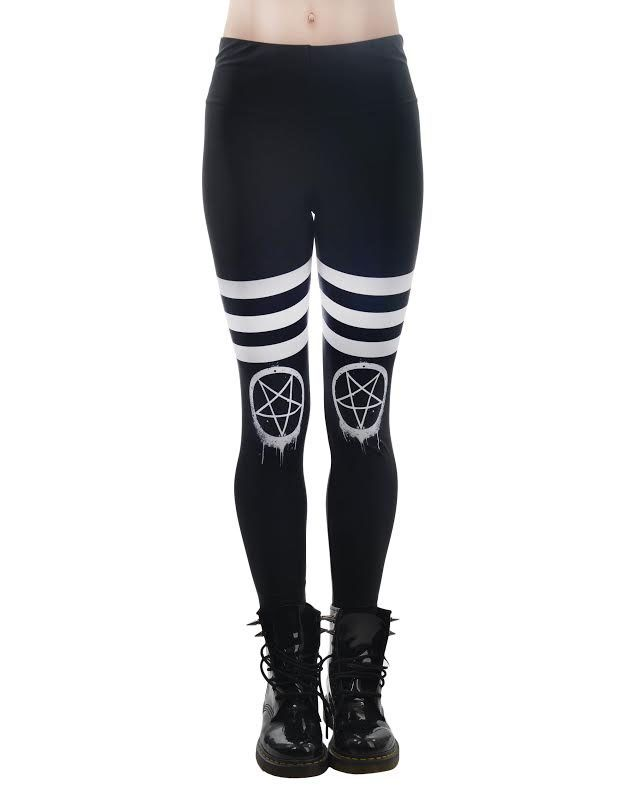 b44e1779d Drippy Pentagram - Addicted Leggings by Too Fast Clothing Rat Baby ...