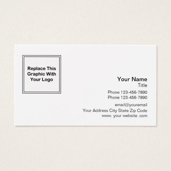 Professional Logo Design Business Card Professional logo design - blank business card template