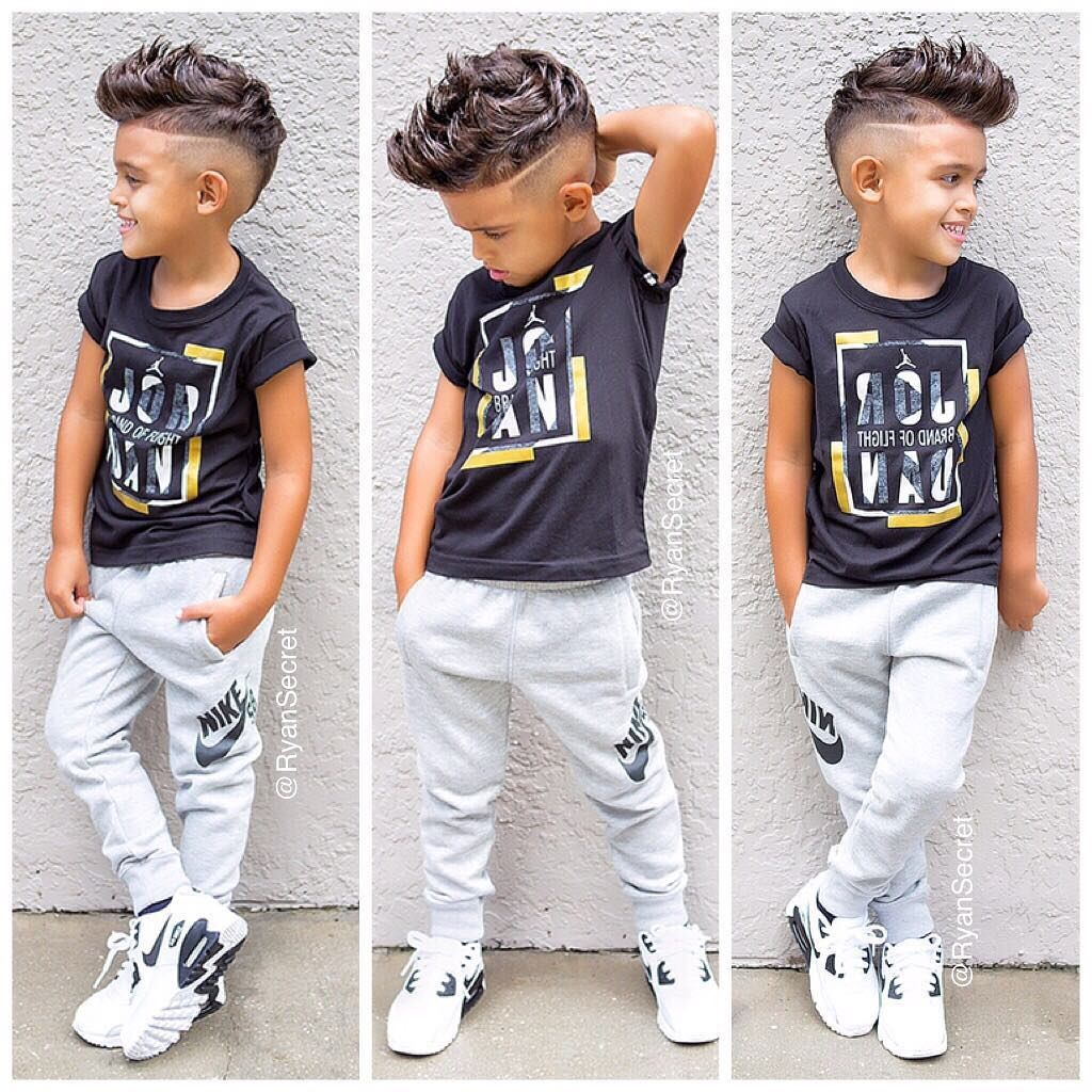 Kid Haircuts With Outfit: Pin By Bren Jones On Girl's And Boy's Unique Hair Styles