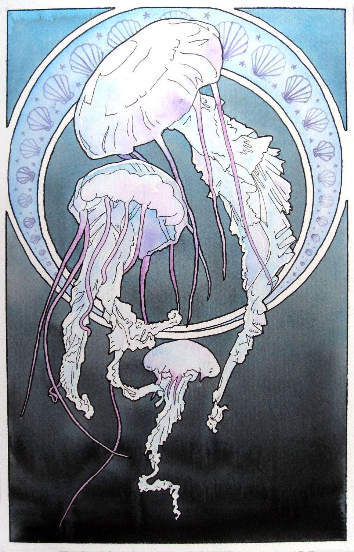 Art Nouveau Tattoo Nouveau: Jellyfish - Nuveou. Great Tattoo Here