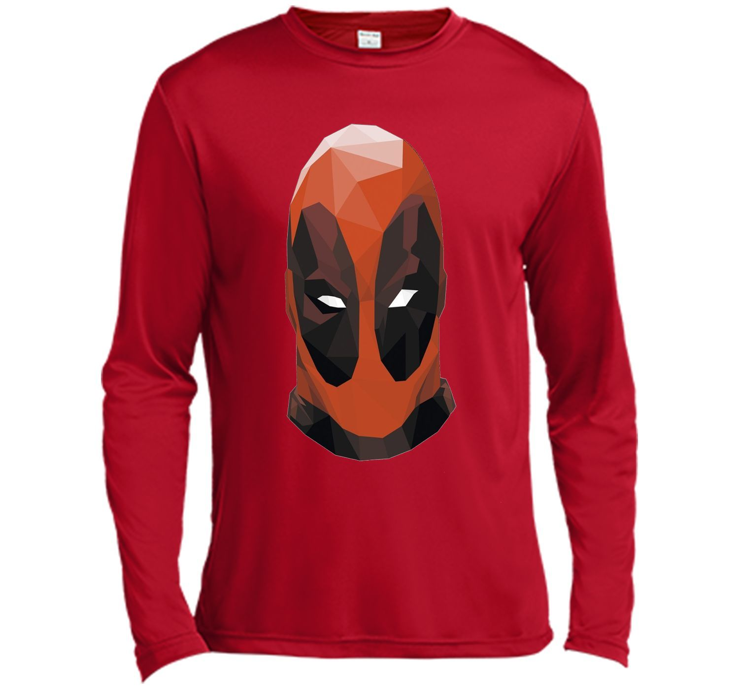 Marvel Geometric Deadpool Mask Graphic T-Shirt