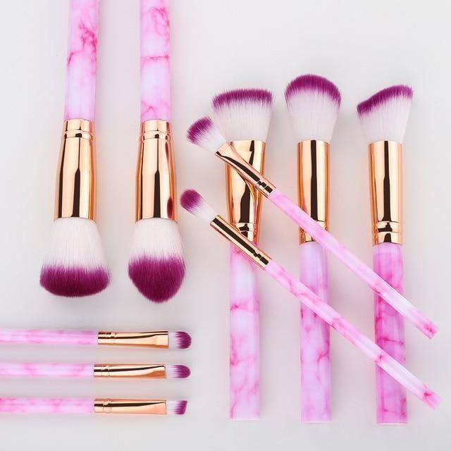 15 Stück Make-up Pinsel Set – 10 Stück Rose