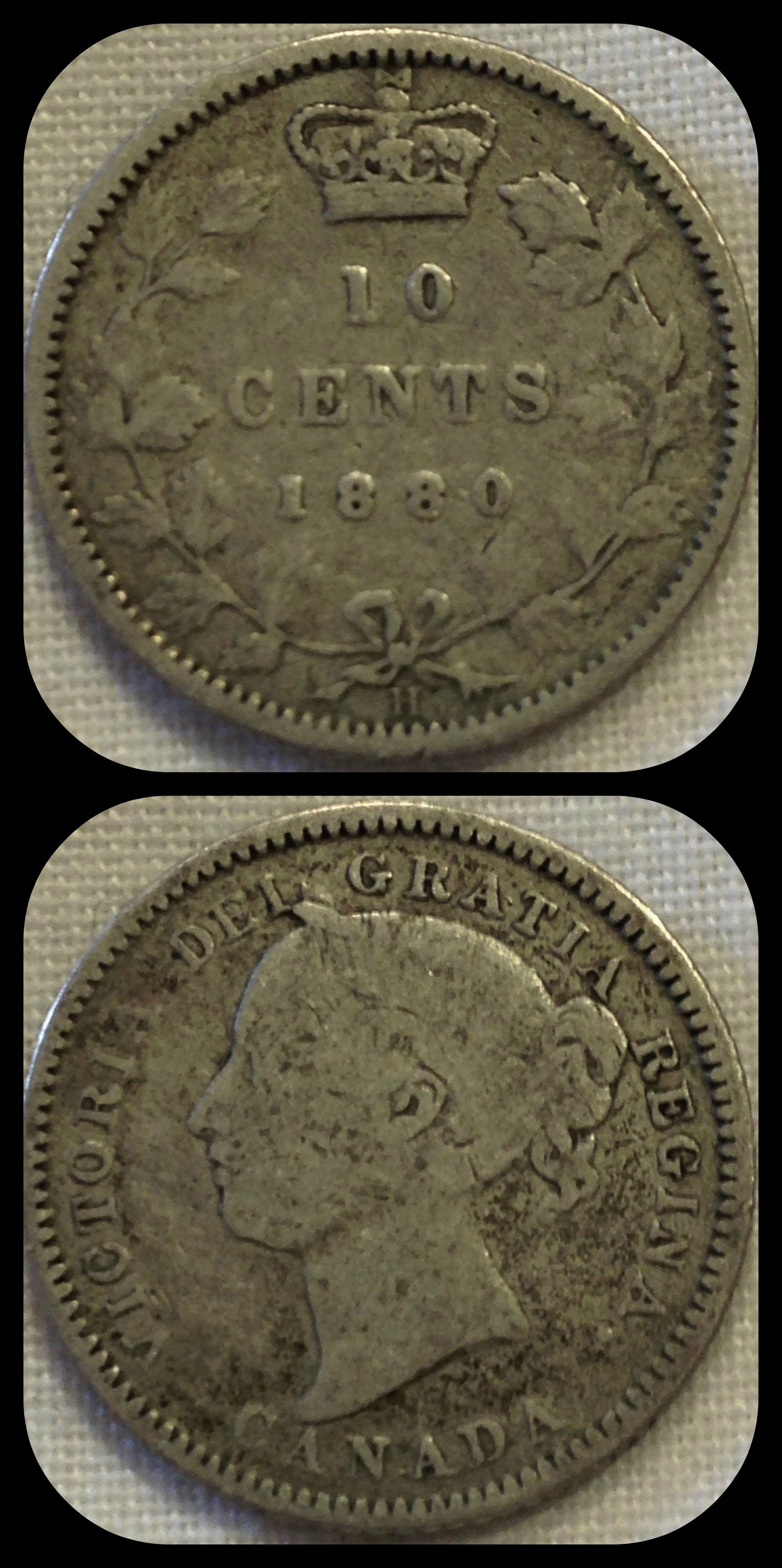 Canada 10 Cents 1880 Condition Very Good For This And More Coins From The Americas Visit Alba Coins Canadiancoins Monnaiecanadiennes