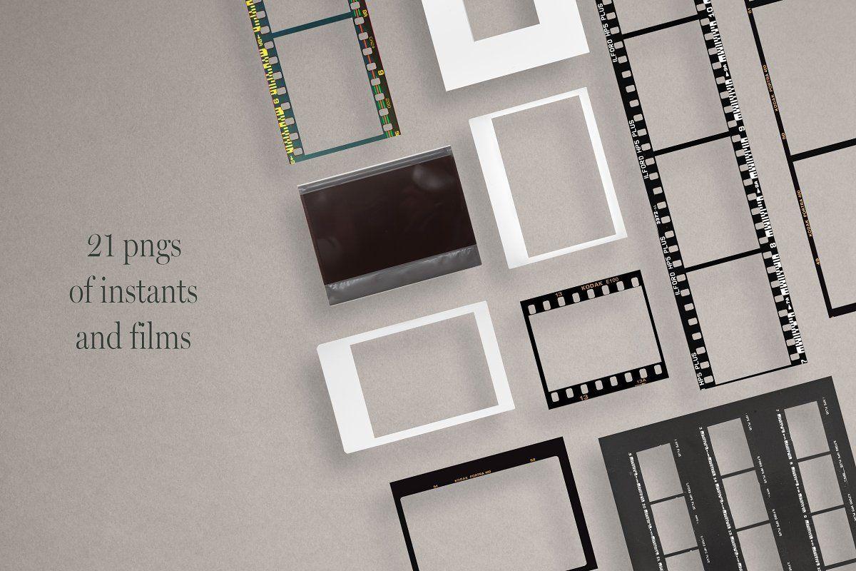 Analog Film Instant Social Kit Post Templates Social Media Template Instagram Story Template