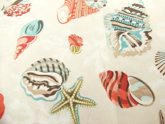 Coral Beach Shell Outdoor Fabric by P by TextilesandThings ...