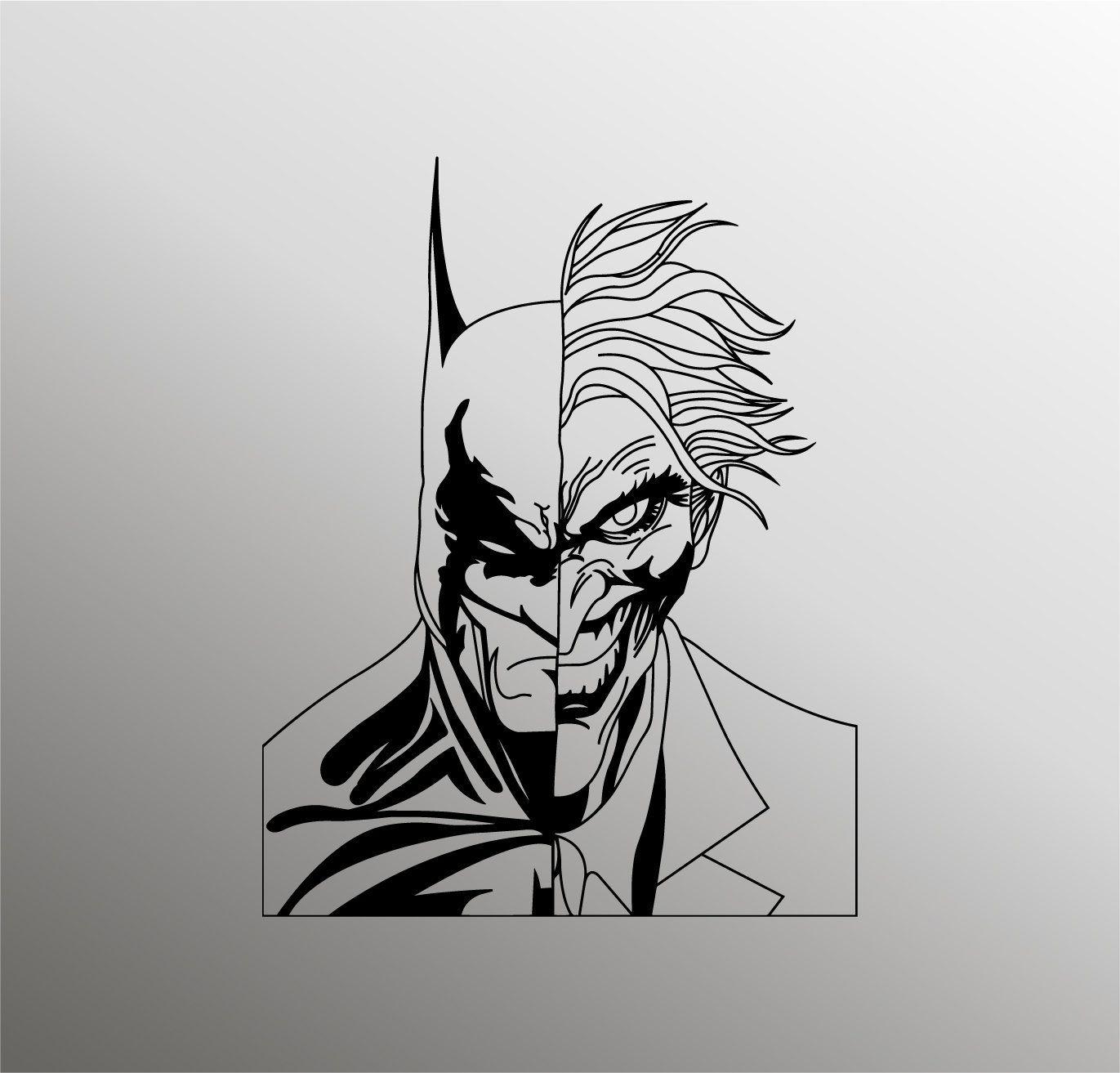 Batman Svg Joker Svg Batman Silhouette Superhero Svg Joker Etsy Batman Silhouette Silhouette Drawing Batman [ 1313 x 1371 Pixel ]