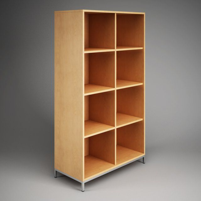 Model Cgaxis Office Storage Cubby Shelf Unit Obj