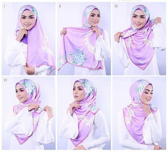 Tutorial Hijab Segi Empat 1 Jpg 564 512 Pixels Square Hijab Tutorial Hijab Tutorial Hijab Fashion Inspiration