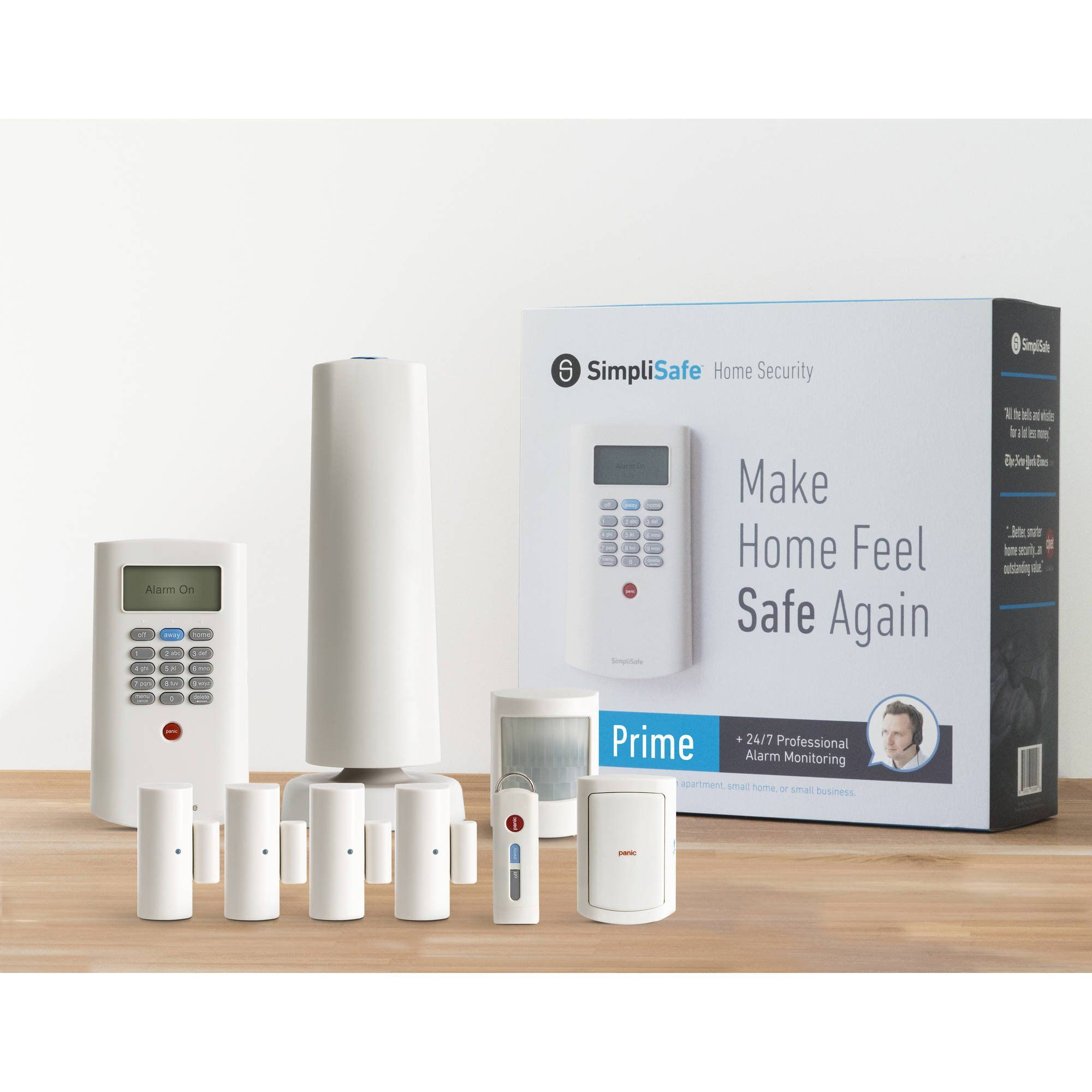 Simplisafe Prime Home Security System 9 Piece Kit Wireless Home Security Systems Home Security Systems Home Security