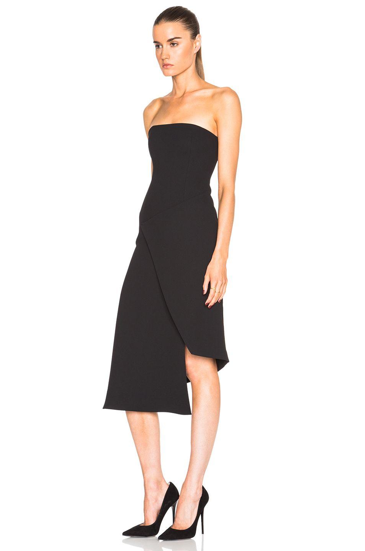 b108887053797 NICHOLAS Front Wrap Dress in Black   FWRD   Dress