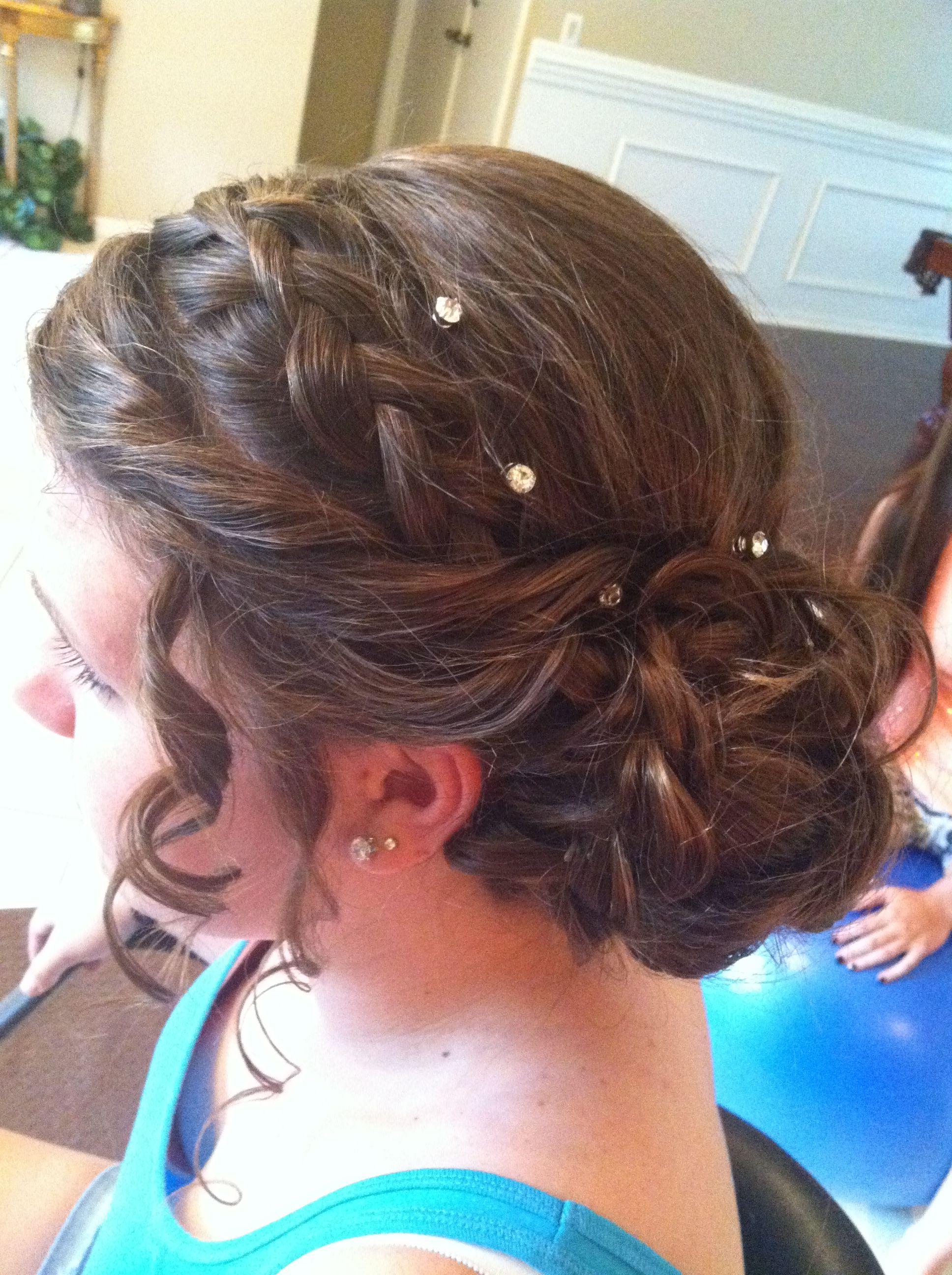 Up do braid prom