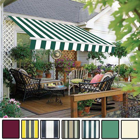 Merveilleux Manual Awning Canopy Garden Patio Shade Shelter Aluminium Retractable  Greenbay In Garden U0026 Patio, Garden