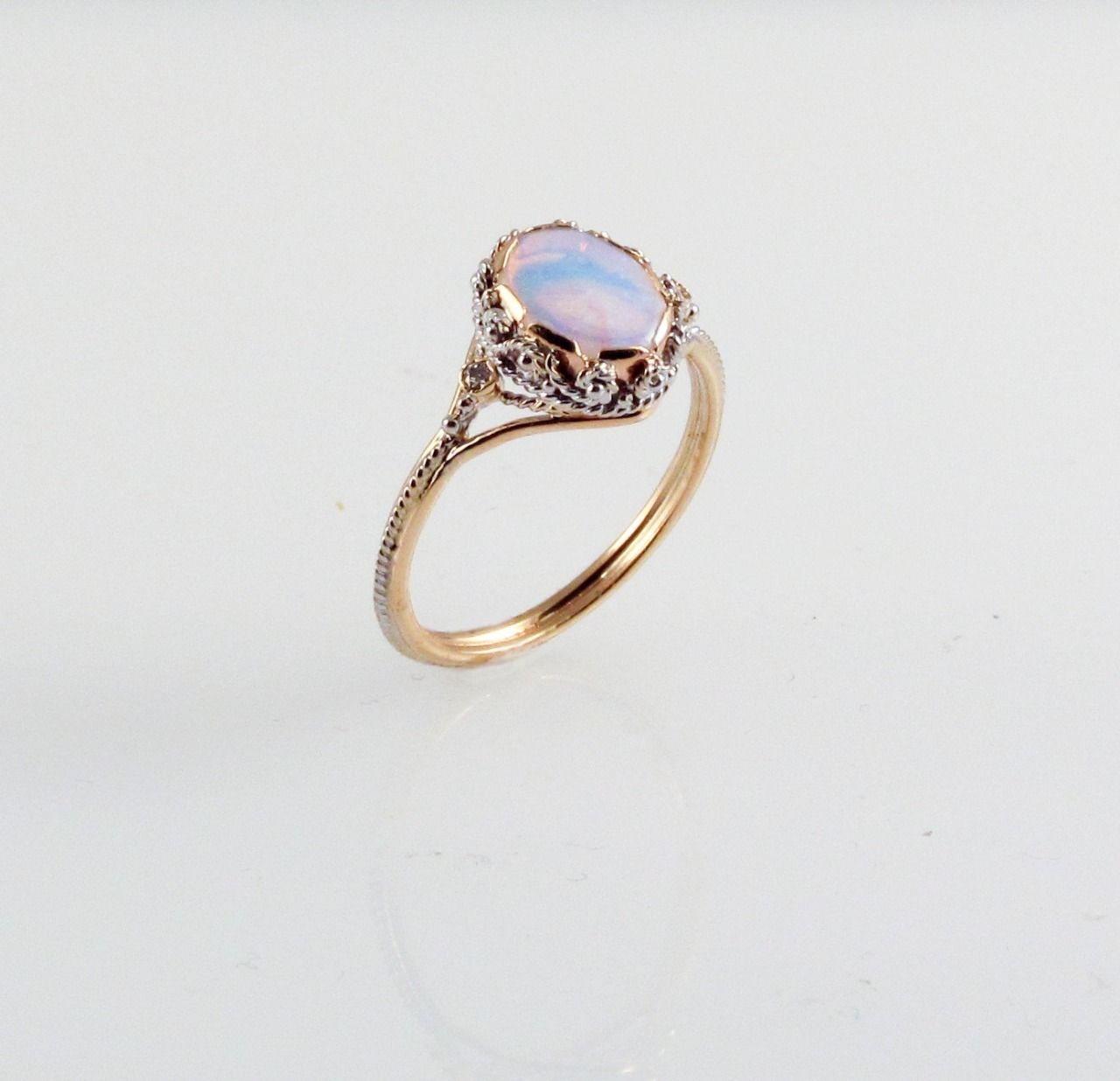 products weaver quartz rings rose gemstone dream static ring boho jewellery