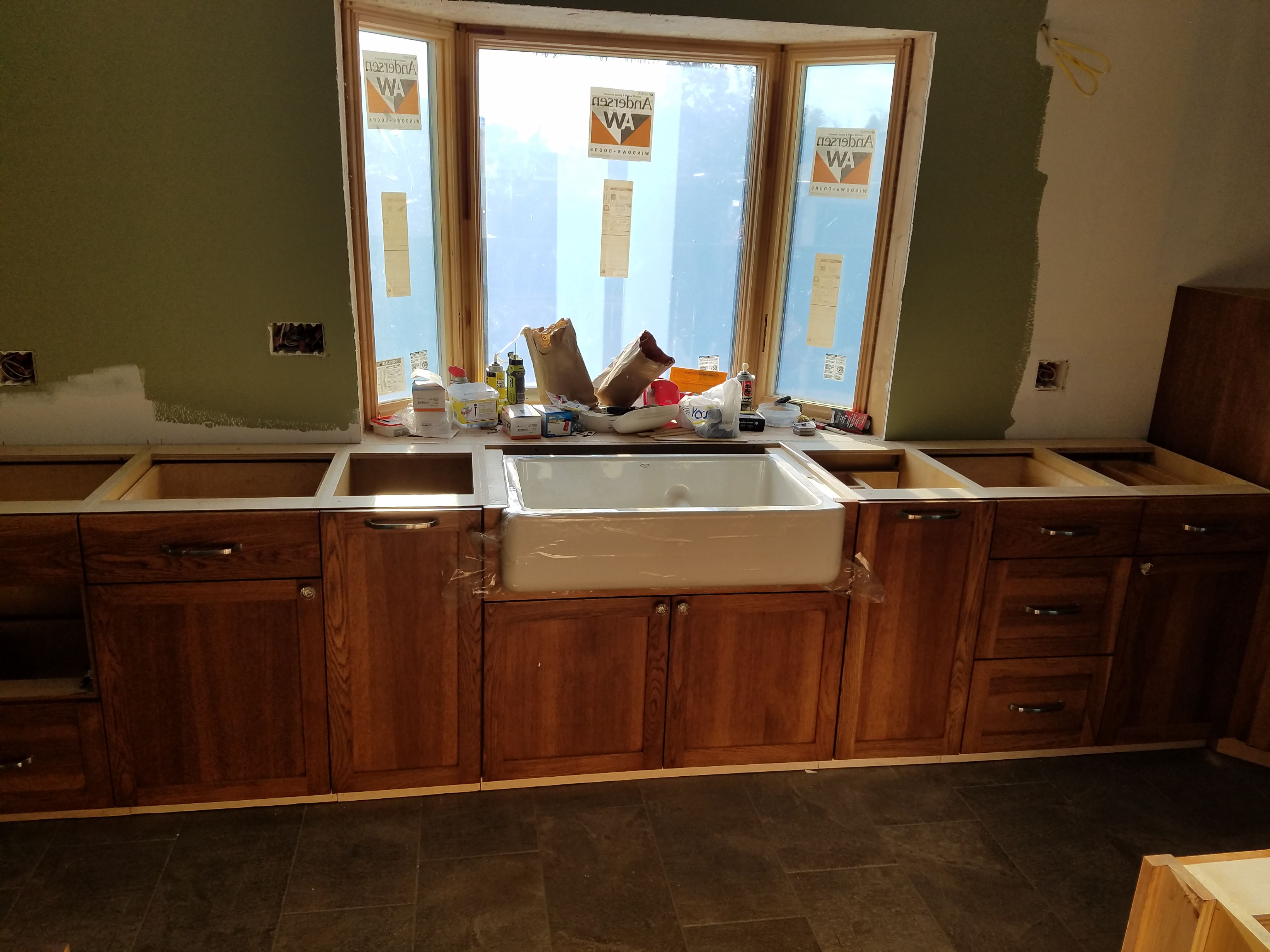 Sink Cupboards In Hickory Precision Woodworks Great Falls Mt