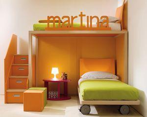 Etagen Bett / Modern / Holz / Für Kinder (Jungen Und Mächen)