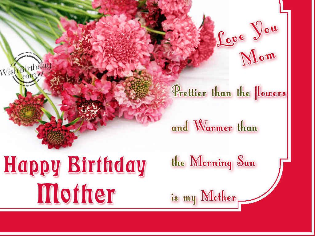 Birthday Greetings For Mother Happy Birthday Pinterest Happy