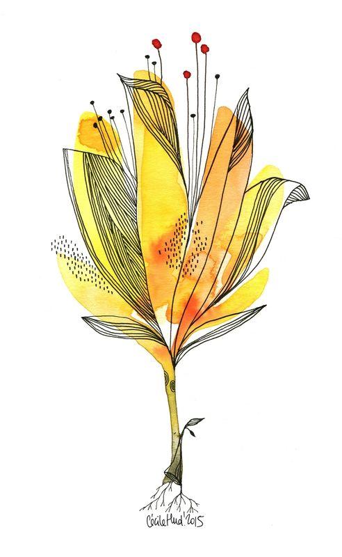 Fleur Jaune Les Chosettes Projet Place De La Liberte Graphisme