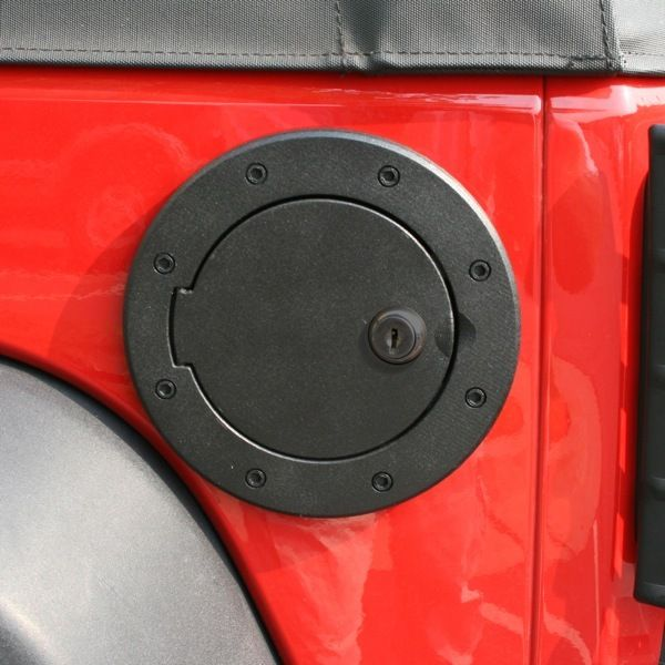 The Preowned Jeep Store Rugged Ridge Locking Gas Cap Door Black Aluminum 07 14 Jeep Wrangler 78 Jeep Wrangler Jk Jeep Wrangler Jeep Wrangler Accessories