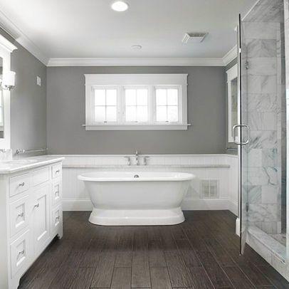 wood tile bathroom designs Traditional Bath Photos \