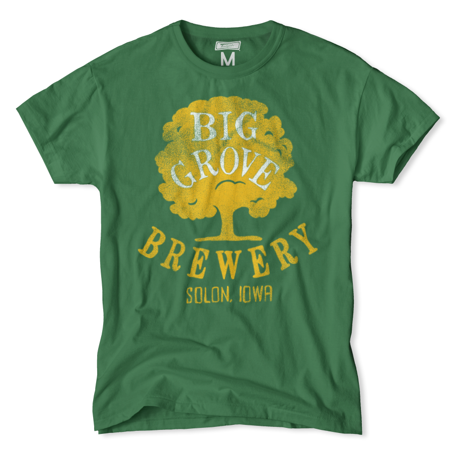 Big Grove Brewery Beer T-shirt Featuring Tree Logo