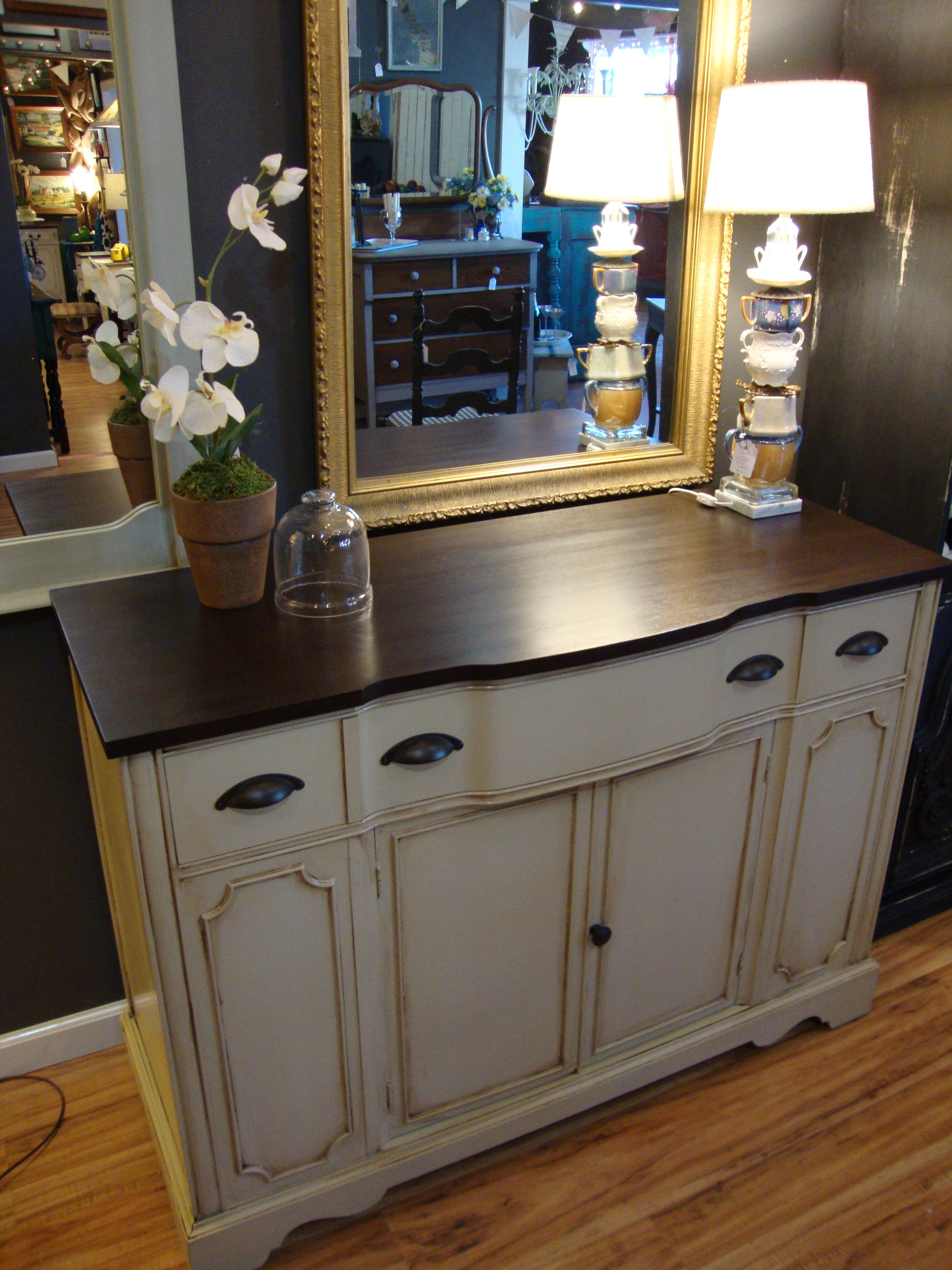 This Classic Duncan Phyfe Buffet Was Painted In A Stone
