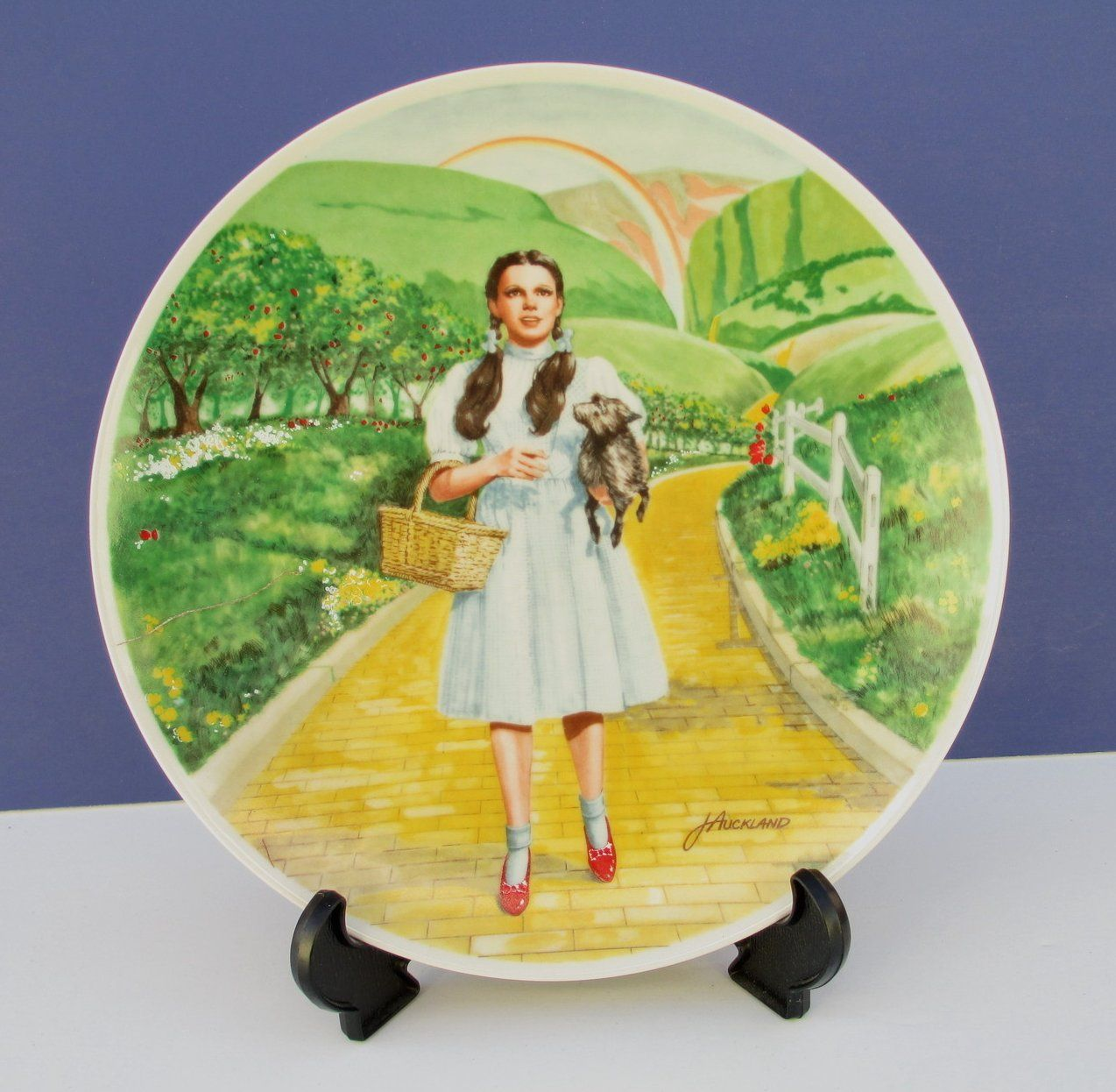 Wizard Of Oz Over The Rainbow Knowles Plate