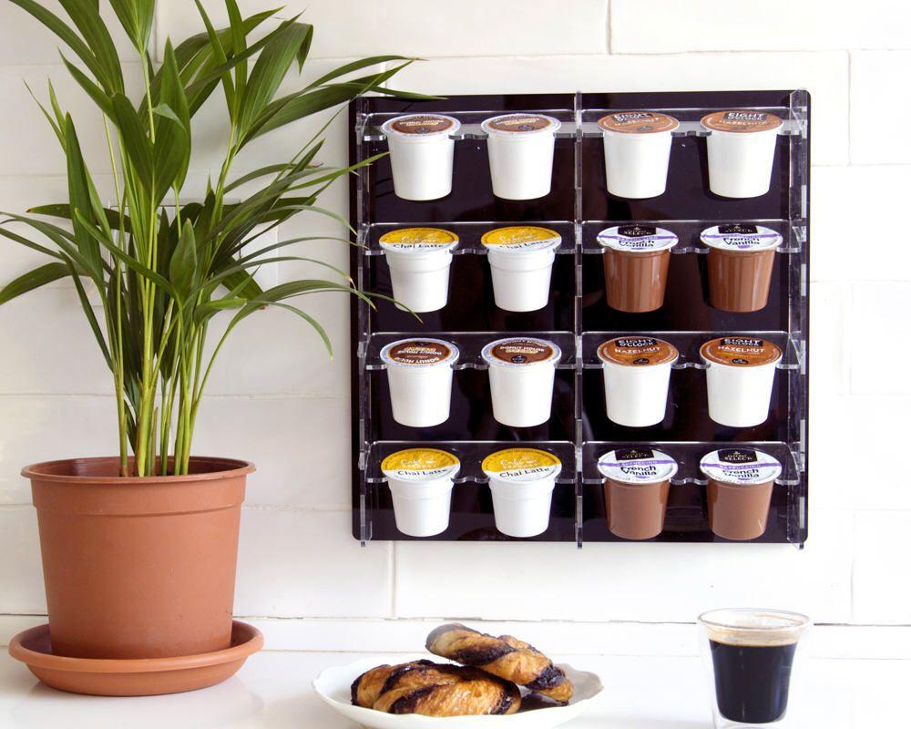Black keurig coffee pod holder large kcup capsule storage